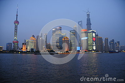 Shanghai dawn Editorial Image