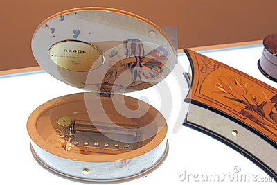 Shanghai Expo exhibition REUGE luxury living music box. Editorial Stock Image