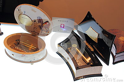 Shanghai Expo exhibition REUGE luxury living music box. Editorial Photography