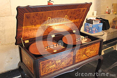 Shanghai Expo exhibition REUGE luxury living music box. Editorial Photo