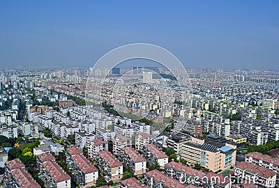 Shanghai high-rise overlooking Editorial Photo