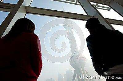 Shanghai landmark Editorial Stock Image