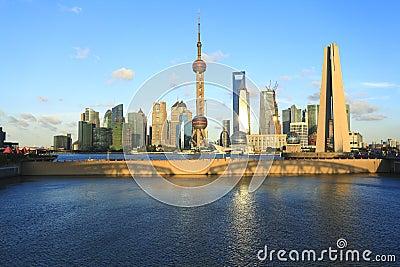 Shanghai landmark skyline