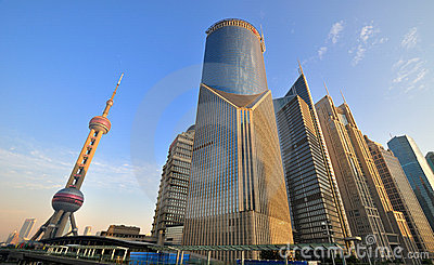 Shanghai Lujiazui business and financial center Editorial Photography