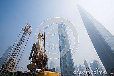 Shanghai.Lujiazui financial district.