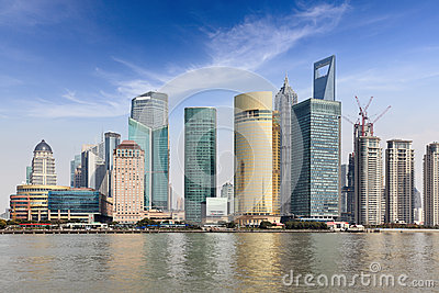 Shanghai lujiazui financial trade center
