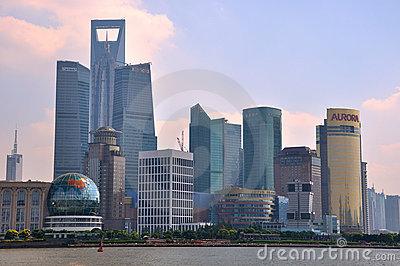 Shanghai Lujiazui financial and trading district Editorial Stock Photo