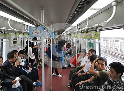 Shanghai Metro Editorial Photography