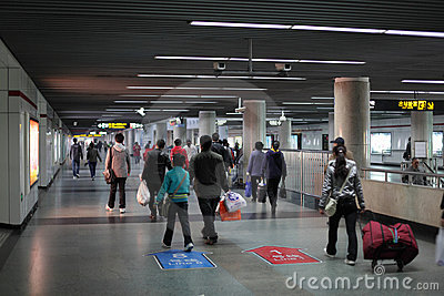 Shanghai Metro Station Editorial Stock Image