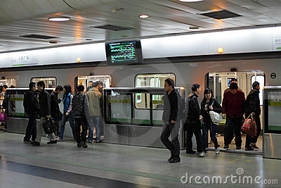 Shanghai Metro Station Editorial Stock Image