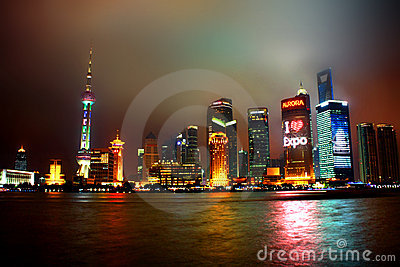 Shanghai night Editorial Photo