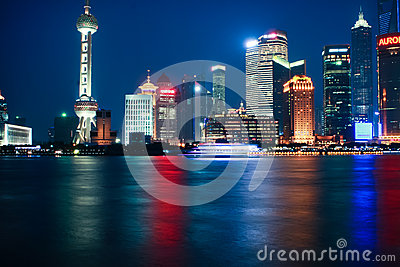 Shanghai night Editorial Stock Photo