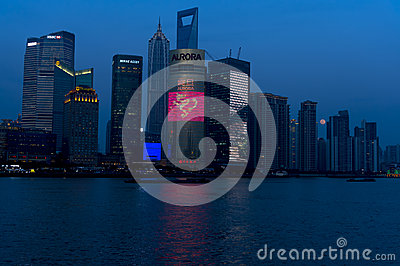 Shanghai at night Editorial Stock Photo