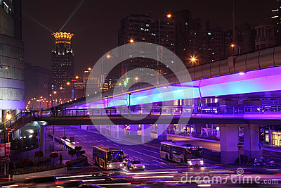 Shanghai at night, China Editorial Photography