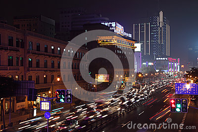 Shanghai at night, China Editorial Stock Image