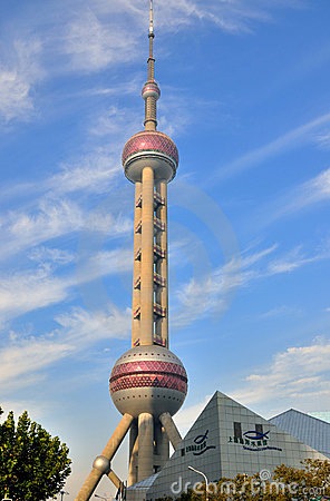 Shanghai oriental pearl tower and public building Editorial Stock Image