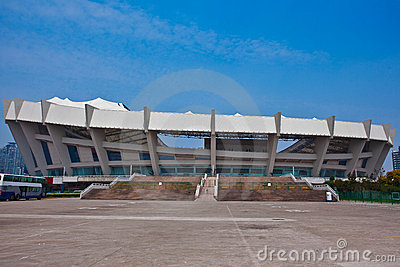Shanghai Outdoor Stadium Editorial Stock Image