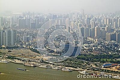 Shanghai passenger Port, CHINA (Retro Style)