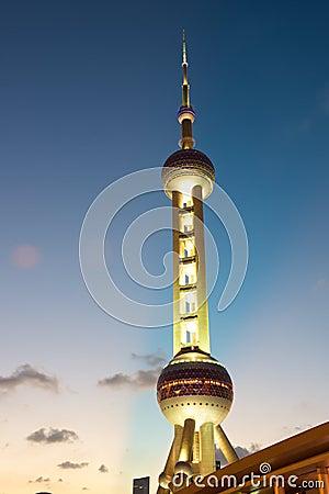 Shanghai Pearl tower at night
