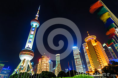Shanghai Pudong night