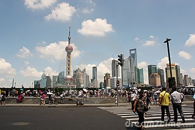 Shanghai skyline Editorial Stock Image