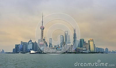 Shanghai Skyline Editorial Stock Photo