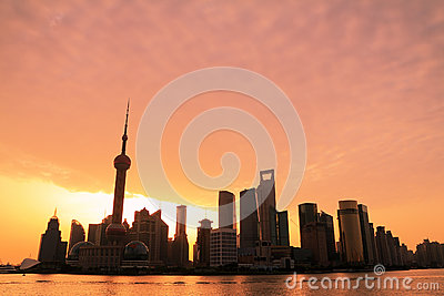 Shanghai Skyline dawn