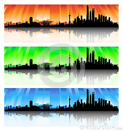 Shanghai Skyline Set