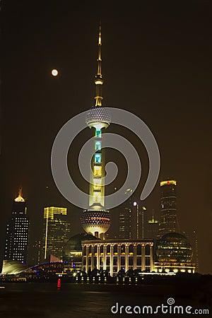 Shanghai TV Tower at night