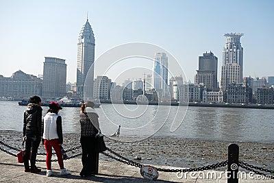 Shanghai waitan Editorial Image