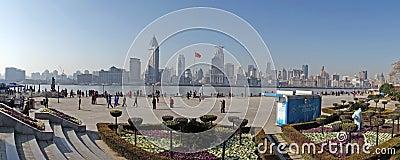 Shanghai waitan panorama Editorial Stock Photo