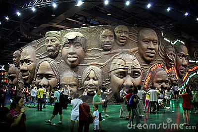 Shanghai World Expo Africa Union Pavilion indoor Editorial Stock Image