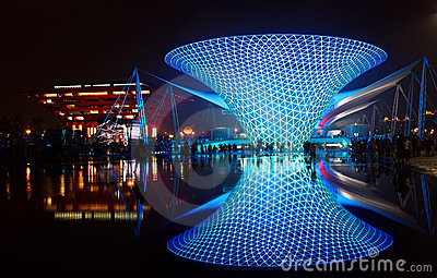 Shanghai World Expo Boulevard Sunny Valley Editorial Photo