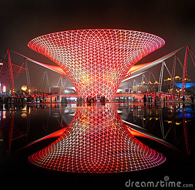 Shanghai World Expo Boulevard Sunny Valley Editorial Stock Photo
