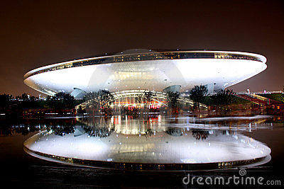 Shanghai World Expo Culture Center Editorial Photo