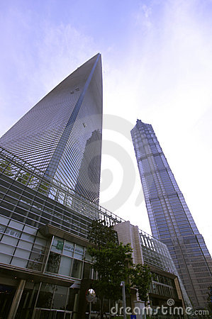 Free Shanghai World Financial Center & Jinmao Tower Stock Images - 14294034