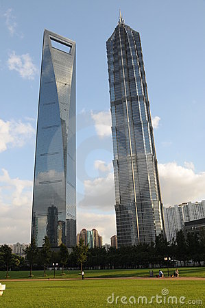 Shanghai World Financial Center and Jinmao Tower