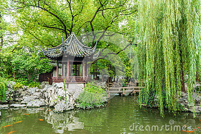 Shanghai Yuyuan Garden Traditional Building Scenery Stock ...