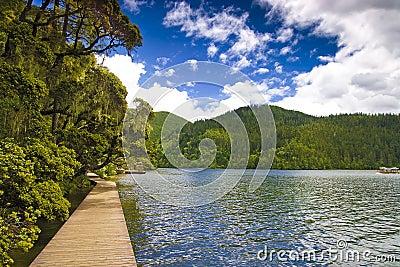 Shangri-La and lake
