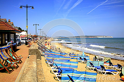 Shanklin beach, Isle of Wight. Editorial Stock Photo