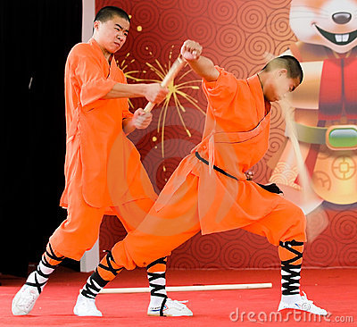 Shaolin Demonstration Editorial Photography