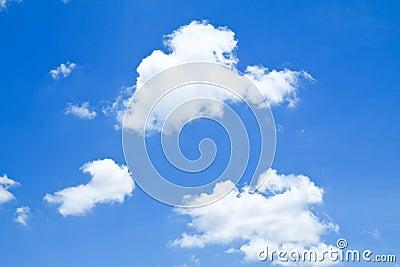 The shape of clear blue sky