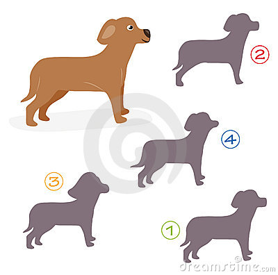 Shape game - the dog