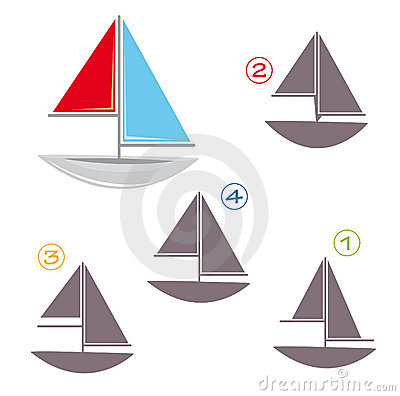 Shape game - the sailboat
