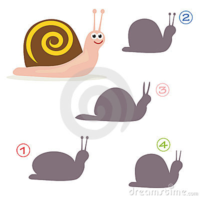 Shape game - the snail