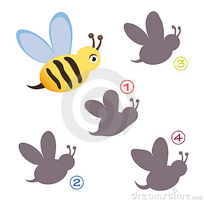 Free Shape Game - The Bee Stock Photo - 15501060