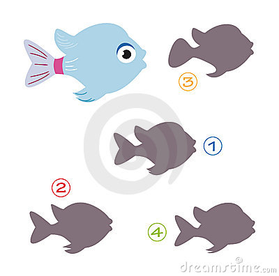 Free Shape Game - The Fish Royalty Free Stock Image - 15502456