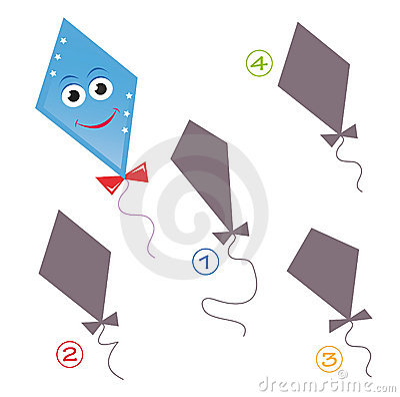 Free Shape Game - The Kite Stock Photo - 15501030