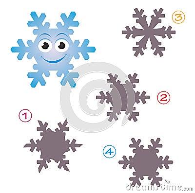 Free Shape Game - The Snowflake Stock Image - 16939041
