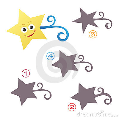 Free Shape Game - The Star Royalty Free Stock Image - 15501046